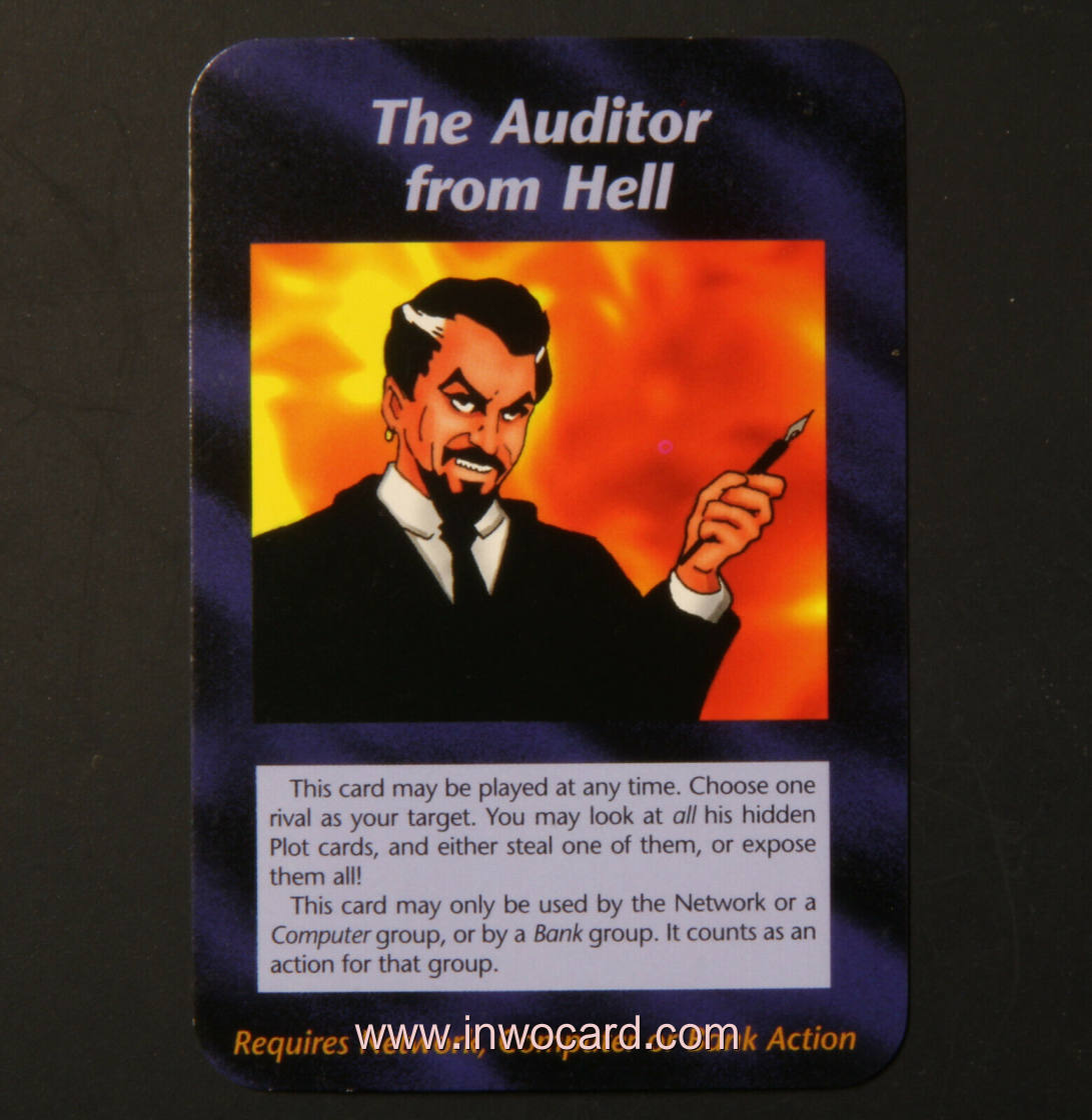 Illuminati Card:the auditor from hell unlimited