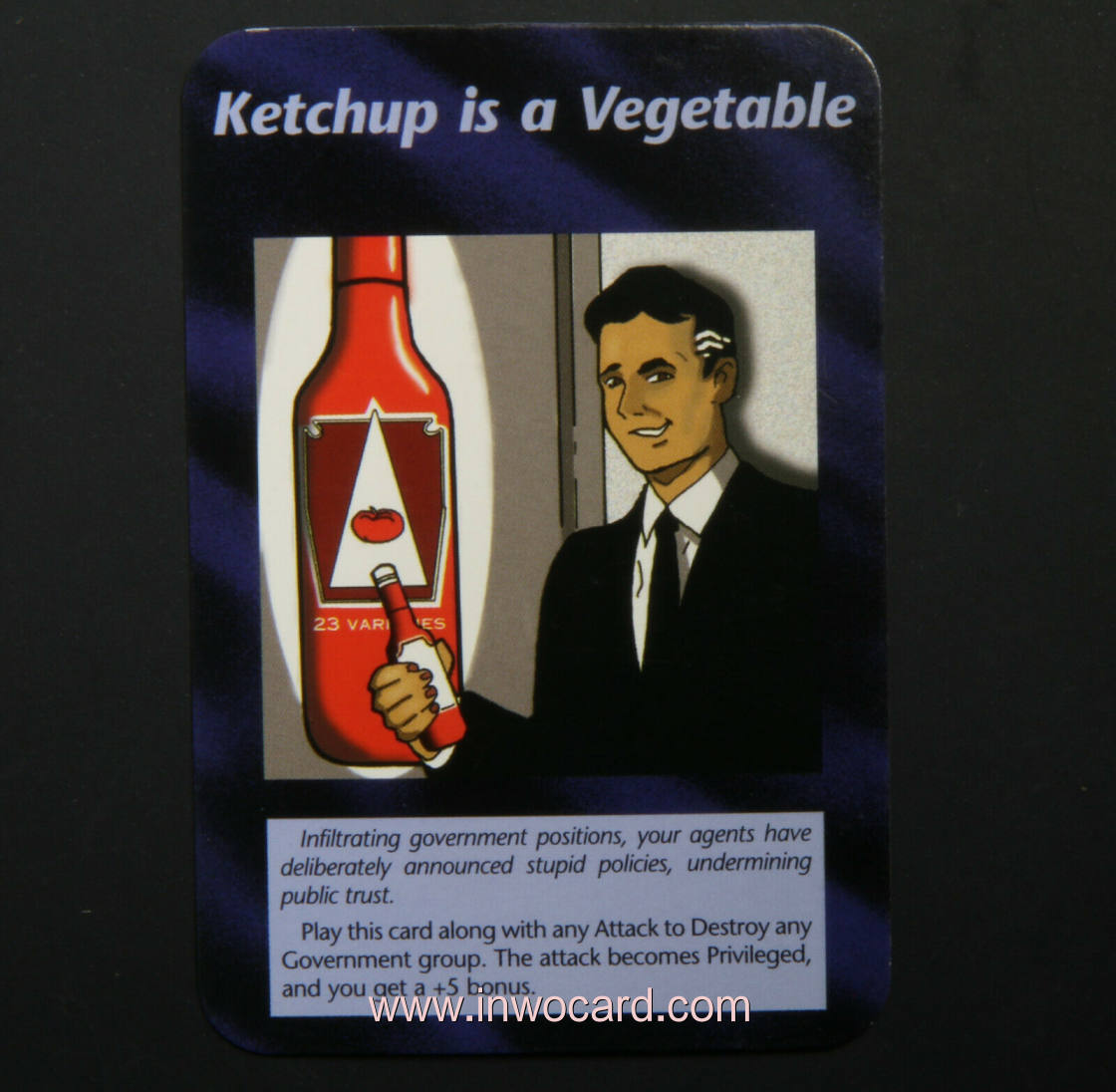 Illuminati Card:ketchup is a vegetable unlimited