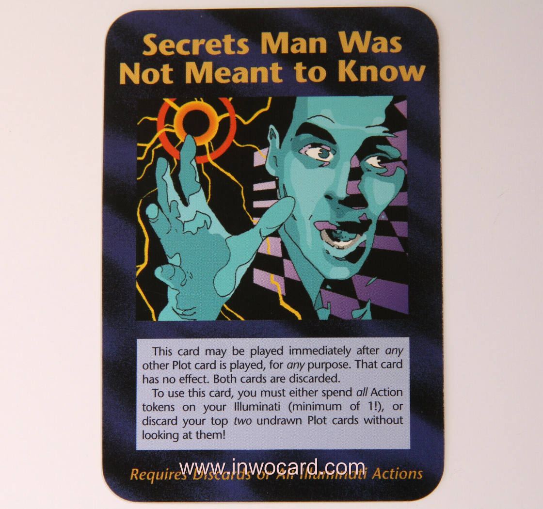 Illuminati Card:secrets man was not meant to k limited