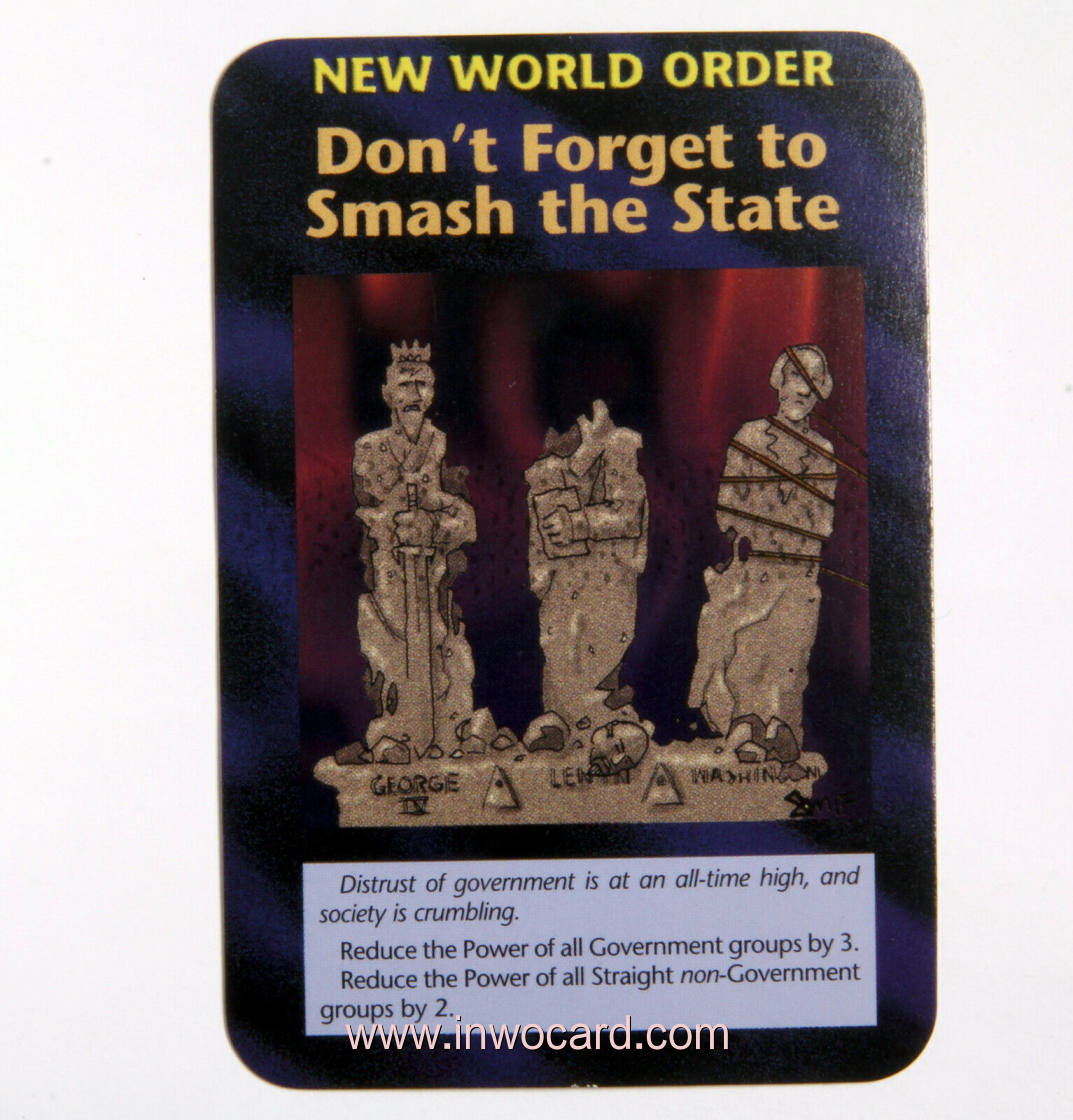 Illuminati Card:nwo dont forget to smash the s limited
