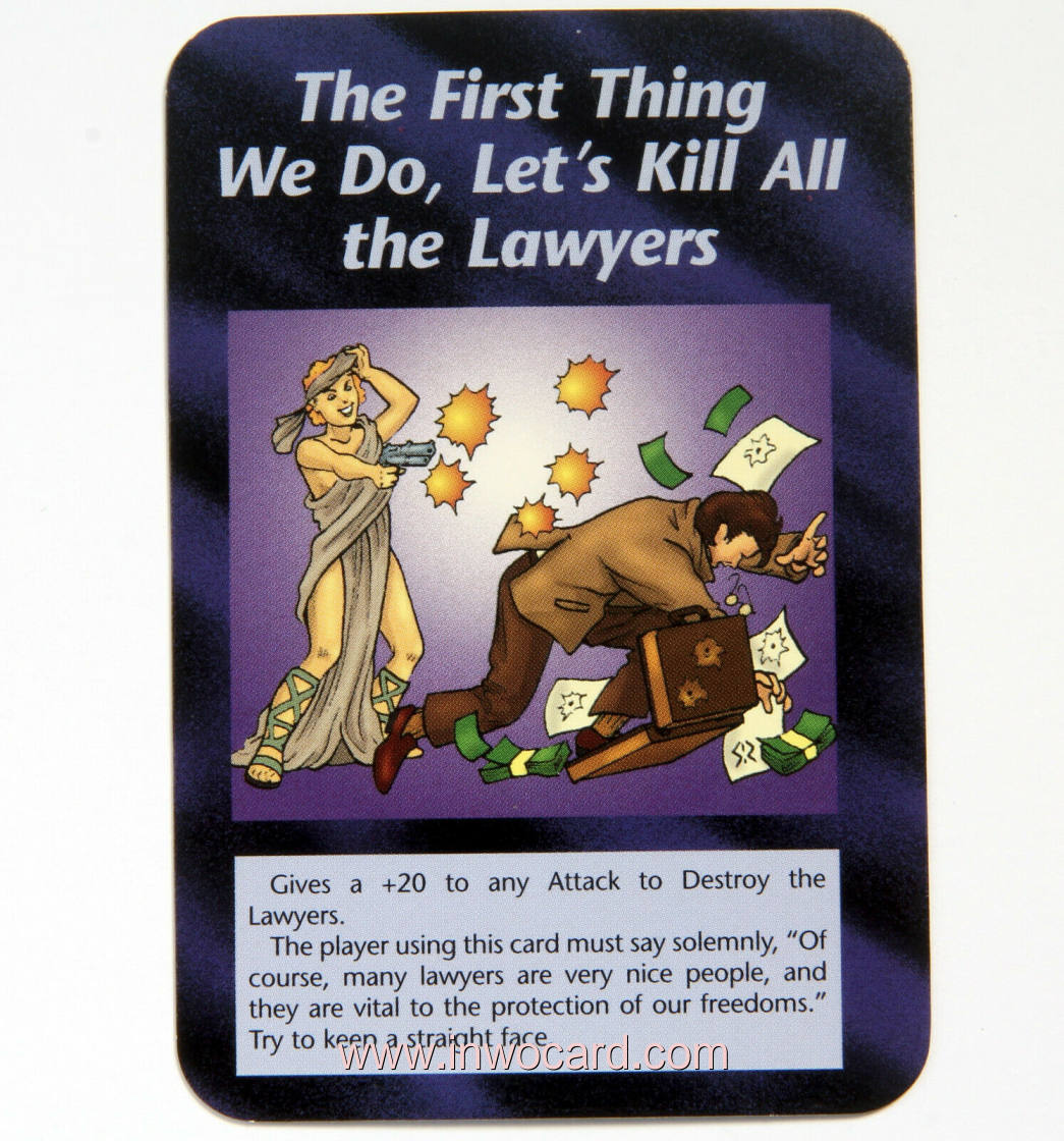Illuminati Card:the first thing we do lets kill layers limited