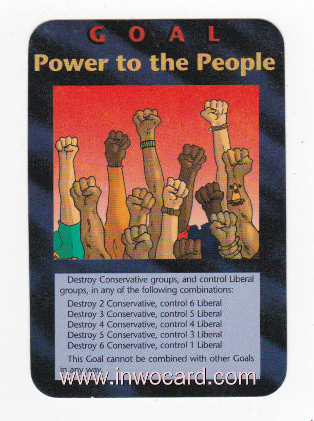 Illuminati Card:goal power to the people unlimited