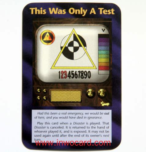 Illuminati Card:This Was Only A Test